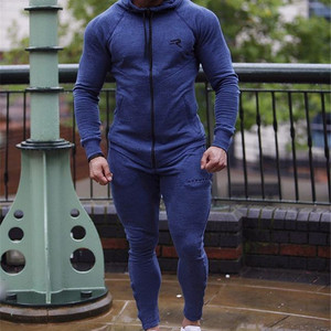 Image 4 - Sport Kleding Mannen Set Running Gym Sweatshirt Mannelijke Sportkleding Trainingspak Fitness Body buildin Mens Hoodies + Broek Sport Pak Mannen