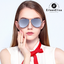 EE Pilot Sunglasses Women Alloy Frame Mirror Coating lens Eyewear with Packing Box Oculos De Sol Feminino Female Sun Glasses