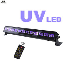 купить 27W LED Stage Light Remote Control Led Ultraviolet Light Fluorescent Lamp Haunted House Stage Performance Flash Uv Fill Light дешево
