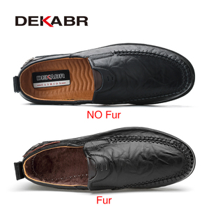 Image 2 - DEAKBR Breathable Genuine Leather Loafers Men Casual Shoes High Quality Adult Slip on Moccasins Men Sneakers Male Footwear 46