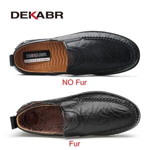 Image 2 - Deakbr respirável mocassins de couro genuíno dos homens sapatos casuais de alta qualidade adulto deslizamento em mocassins tênis masculino 46