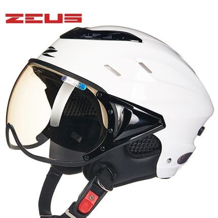 Дамы белый цвет Зевса 125Б половина лица мотоциклетный шлем,мотокросс мото электромобиль мотоцикл шлем безопасности