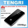 Original Unlocked Huawei E5878 150Mbps Full-band 4G LTE FDD Wireless Router USB Pocket MIFI Wifi Mobile Broadband hotspot