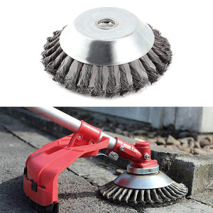 Image 4 - 6/8 inch Steel Trimmer Head Garden Weed Steel Wire Brush Break proof Rounded Edge Weed Trimmer Head for Power Lawn Mower Grass