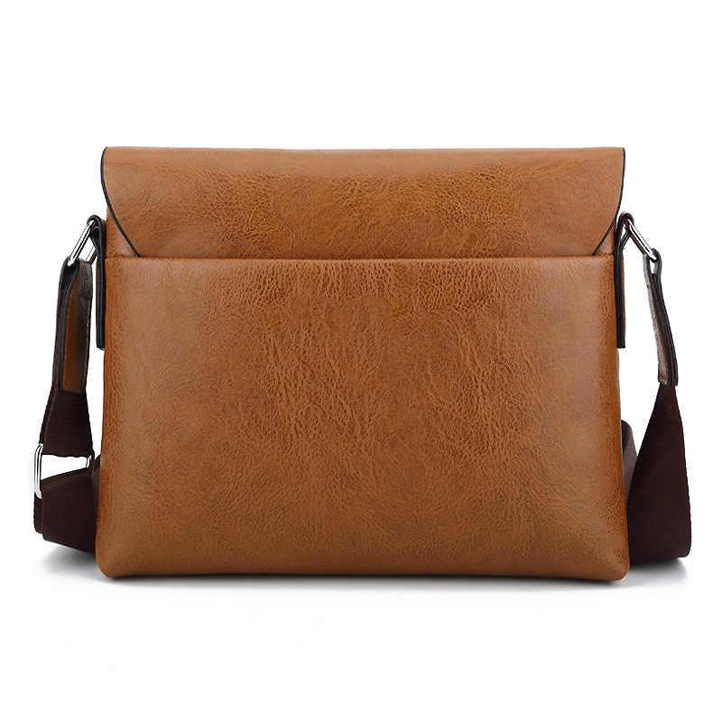 ff5ab0150 ... 2018 New Luxury Crossbody Bags Men Designer PU Leather Shoulder Bag for Men  Boutique Business Casual ...