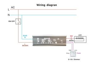 Image 4 - 100W 120W 150W 200W 240W 300W Super Power IP65 0 10V 1 10V Dimming LED กะพริบ DRIVER คงที่เอาต์พุต