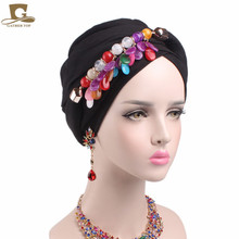 2017 NEW marble stone Pendant head Scarf headscarf hijab turban soft cotton voile long headwrap Necklace Scarves neck warmer