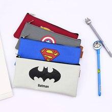 Superhero Batman Pencil Case Anime Big Capacity Oxford Cloth Pencil Bag Box Stationery for Kids Boys School Supplies Tool