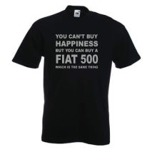 Fiat 500 T-Shirt Funny Car TShirt T Shirt Sizes S-XXXL New Shirts Tops Tee Unisex