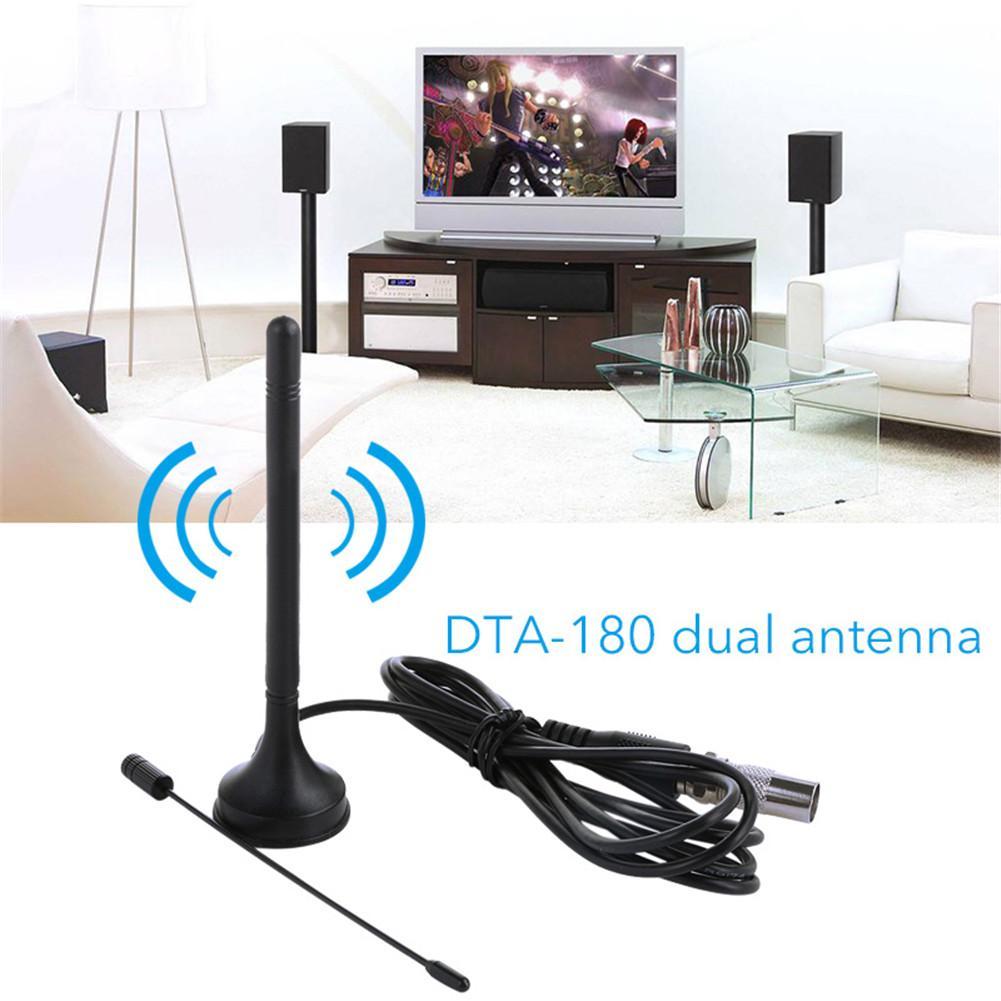 Новый 80 миль Крытый Цифровой 1080 P HD ТВ антенна вертикальной ТВ двойной антенны приемника для нас/EU 4 К HD УКВ Freeview сканирования Каналы
