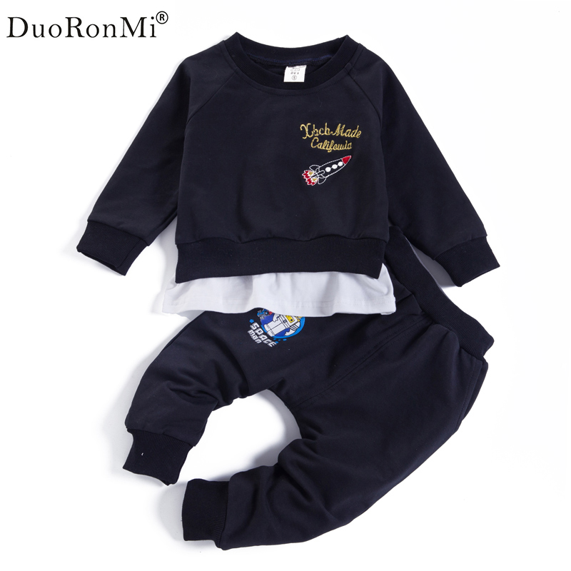 Boys Clothing Set Children Sports Suits Kids Fashion 2017 Brand Autumn Baby Boy Clothes Cartoon Print Tops+Pants Outfits Korean lavla2016 new spring autumn baby boy clothing set boys sports suit set children outfits girls tracksuit kids causal 2pcs clothes