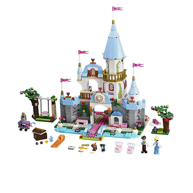 Lepin 25006 Friend 675Pcs Princess Cinderella's Romantic Castle Good Girls Building Block Bricks Prince Charming Toy 41055 dear prince charming