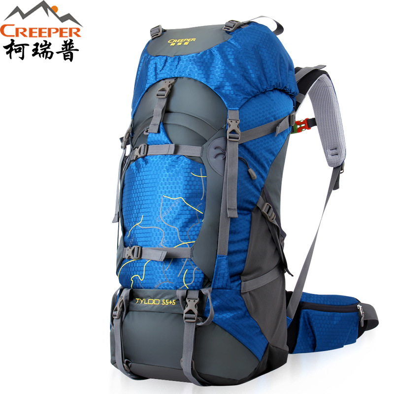 Creeper Camping Backpack Rucksack Outdoor Trekking Hiking Backpacks Sport Bag with Rain Cover Mountaineering Daypack 50 L 70 L creeper camping hiking backpacks outdoor molle waterproof travel sport bag daypack trekking rucksack with rain cover sporttas