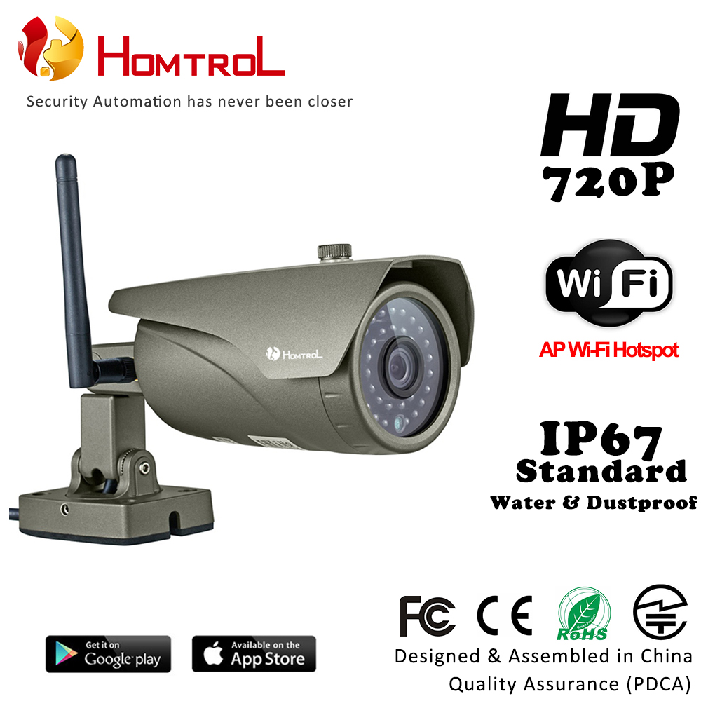цена на Homtrol Mini Camera 720P IR Bullet H.264 1/4 CMOS IP Camera 3.6mm Lens Camera Night Vision P2P 1.0 MP Security Camera