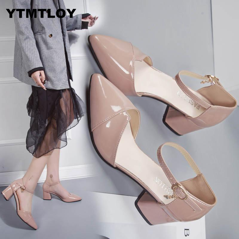 Hot Fashion High Heels Newest Women Pumps Summer Shoes Thick Heel Comfortable Woman Platform Ladies Shoes Wedding Sex  Bridal