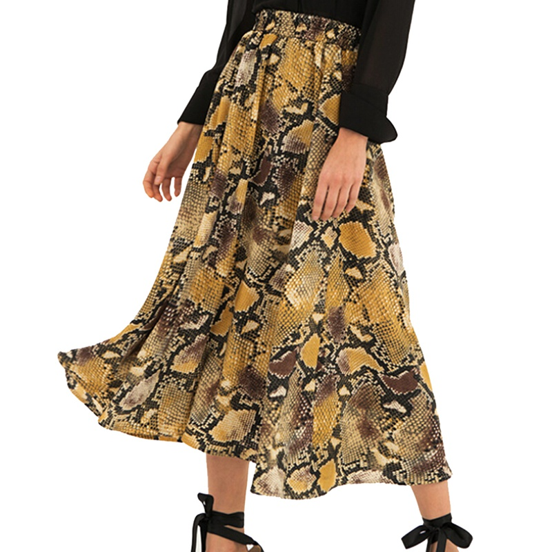 Women's Clothing Casual High Waist  Thin With Chiffon Long Skirt Summer New Style