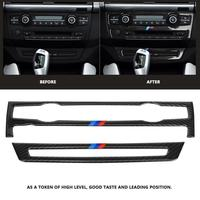 New Carbon Fiber Refit Car Interior Air Conditioning Panel Decoration Sticker for BMW e70 X5 2008 2013 for BMW e71 X6 2009 2014