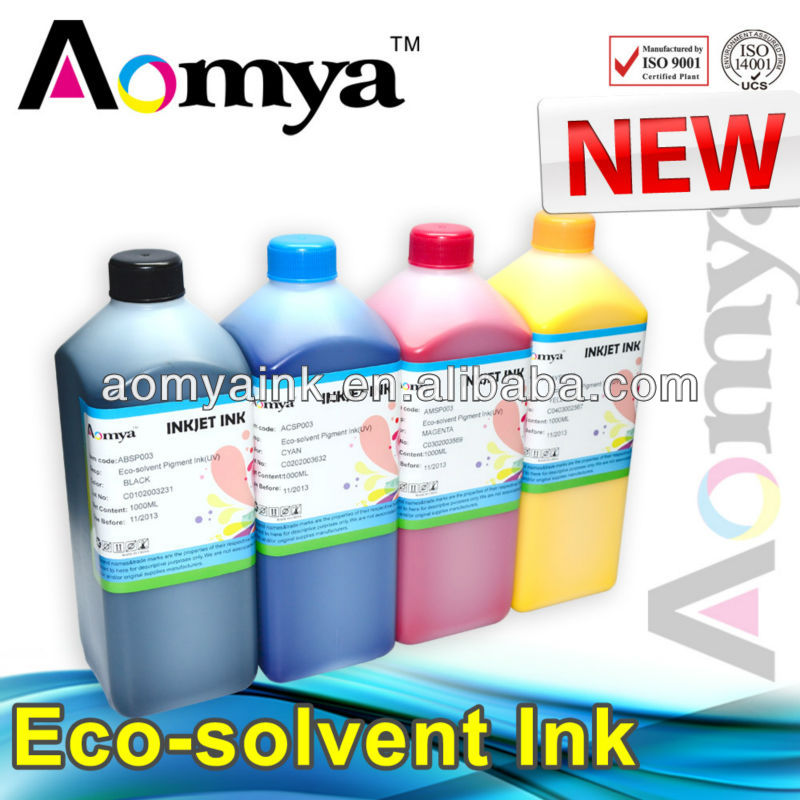 Specialized Eco-solvent ink For Epson DX5 DX7 print head printer 1000ml/color suit for Mimaki,Roland printer ink for taimes konica eco solvent printer print head board