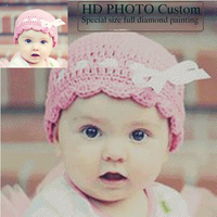 Photos Custom DIY Diamond Painting For Baby Weeding And Parents Photo Full Square Diamond Embroidery Set