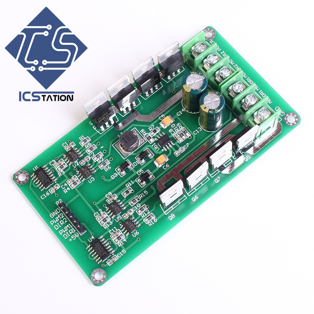 10A Double Channel Motor Driver Module High Power H Bridge 3-36V Heavy Braking