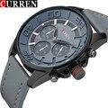 Top Marca de Luxo CURREN Japão Movt de Quartzo Relógio Militar Relógio Do Esporte Dos Homens Dos Homens Casual Relógios de Couro Masculino Relógio relogio masculino