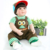 60cm Exquisite Doll Silicone Reborn Baby Toys 24inch reborn toddler boy bebe reborn alive Birthday Gift Play House Toy