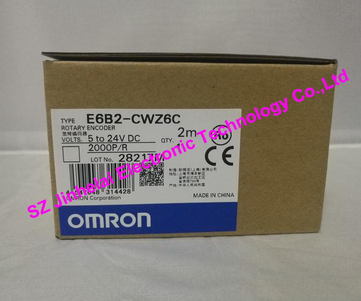New and original E6B2-CWZ6C 2000P/R OMRON ROTARY ENCODER 5-24VDC omron encoder 1000p r e6b2 cwz6c pulse photoelectric incremental rotary encoder