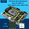 HNan Motherboard CPU Combos Intel X79 LGA 2011 Motherboard With CPU Xeon E5 2660 C2 16G