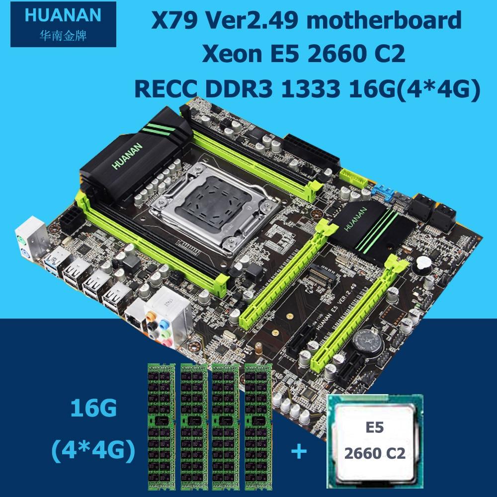Huanan v2.49 X79 материнских плат с pci-e NVME SSD M.2 порт Процессор Xeon E5 2660 C2 Оперативная память 16 г DDR3 recc поддержка 4*16 г памяти все испытания