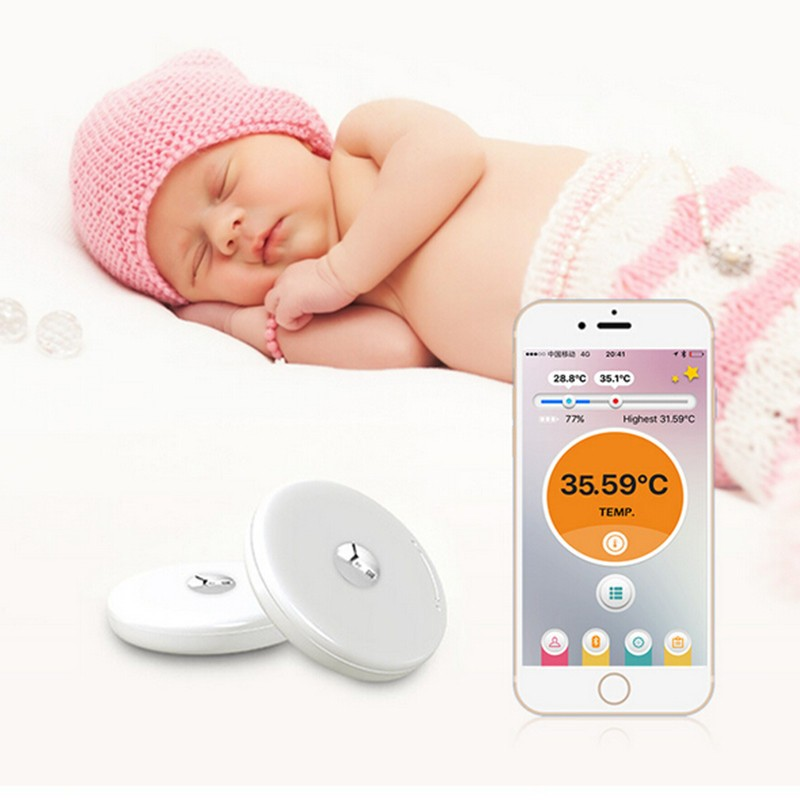 new smart bluetooth home monitoring digital thermometer intelligent electronic thermometers. Black Bedroom Furniture Sets. Home Design Ideas