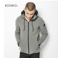 Military Tactical Men Gray Casual Jacket Autumn Winter Men Solid Fashion Windbreaker Slim Fit Hooded Coat