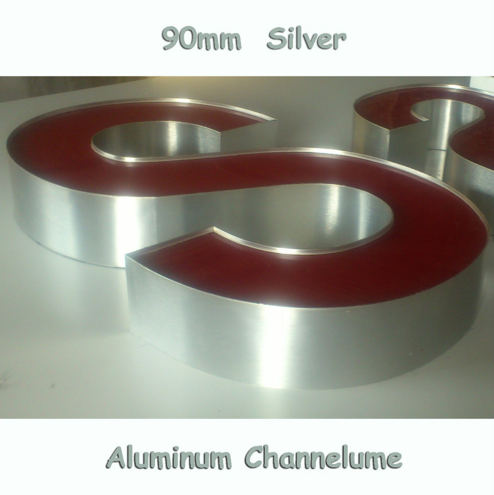 Hand & Power Tool Accessories Punctual 90mm Channelume Led Sign Letters Aluminium Channel Letter Signs Trim Cap 3d Luminous Letters Making Material Less Expensive Tools