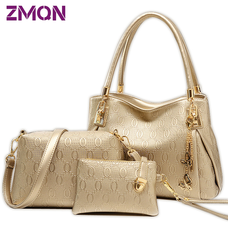 3 Sets Women Bag Leather...