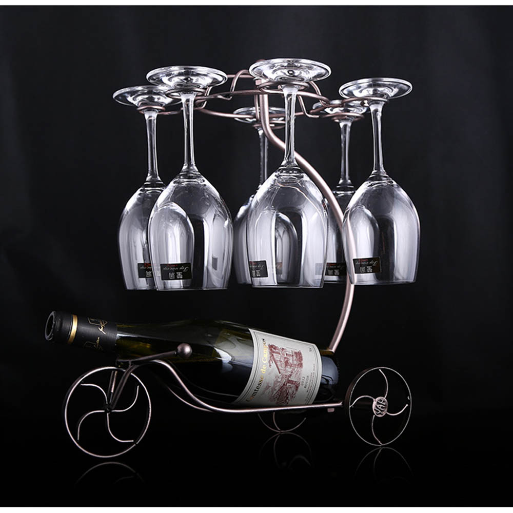 Decorative Racks Wine Bottle Holder Hanging Upside Down Cup Goblets Display Rack Iron Wine Stand Arts Design KC1283