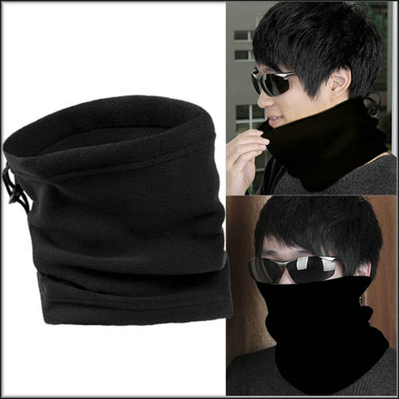 Unisex Polar Fleece Neck Warmer Thermal Snood Scarf Hat Wear Snowboarding Outdoor Multi-functional Fishing Football Scarves