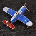 A Qualidade superior Da Marca Classic Blue Esmalte Avião CC Broche Pin Presente de vôo do Jato