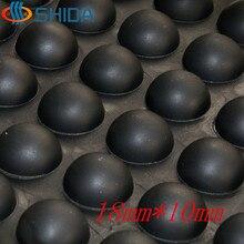 Nieuwe Gratis verzending Zwart 50 Stks/partij 18mm x 10mm anti slip siliconen rubber plastic bumper demper zelf lijm siliconen voeten pads