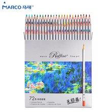 Marcos raffine lápis de cor não-tóxico, lápis de cor profissional 24/36/48/72 cores lápis para material escolar atacado