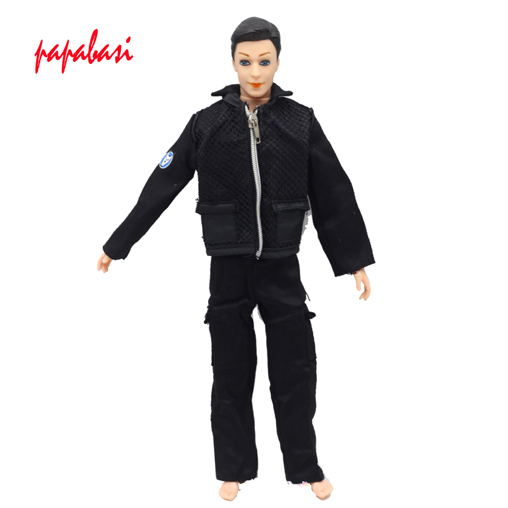 все цены на 1set Doll Prince Clothes Fashion Uniform Outfit For Barbie Boy Male Ken Doll For Lanard 1/6 Soldier Clothes онлайн