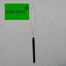 1 шт. инструмент для наращивания волос микро кольцо шарик тянет обруч петля перо Нитевдеватель