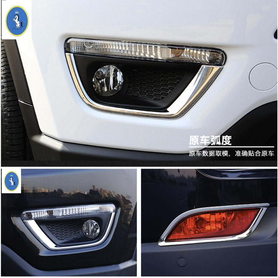 2 Chrome FRONT Fog Lamp Covers Lower Lights For 2011 2012 2013 JEEP Compass USA