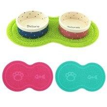 New Colorful Pet font b Dog b font Puppy Cat Feeding Mat Pad Cute PVC Bed