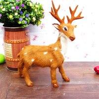 21x15cm Reindeer Sika Deer Toy Polyethylene Furs Resin Handicraft Decoration Baby Toy D339