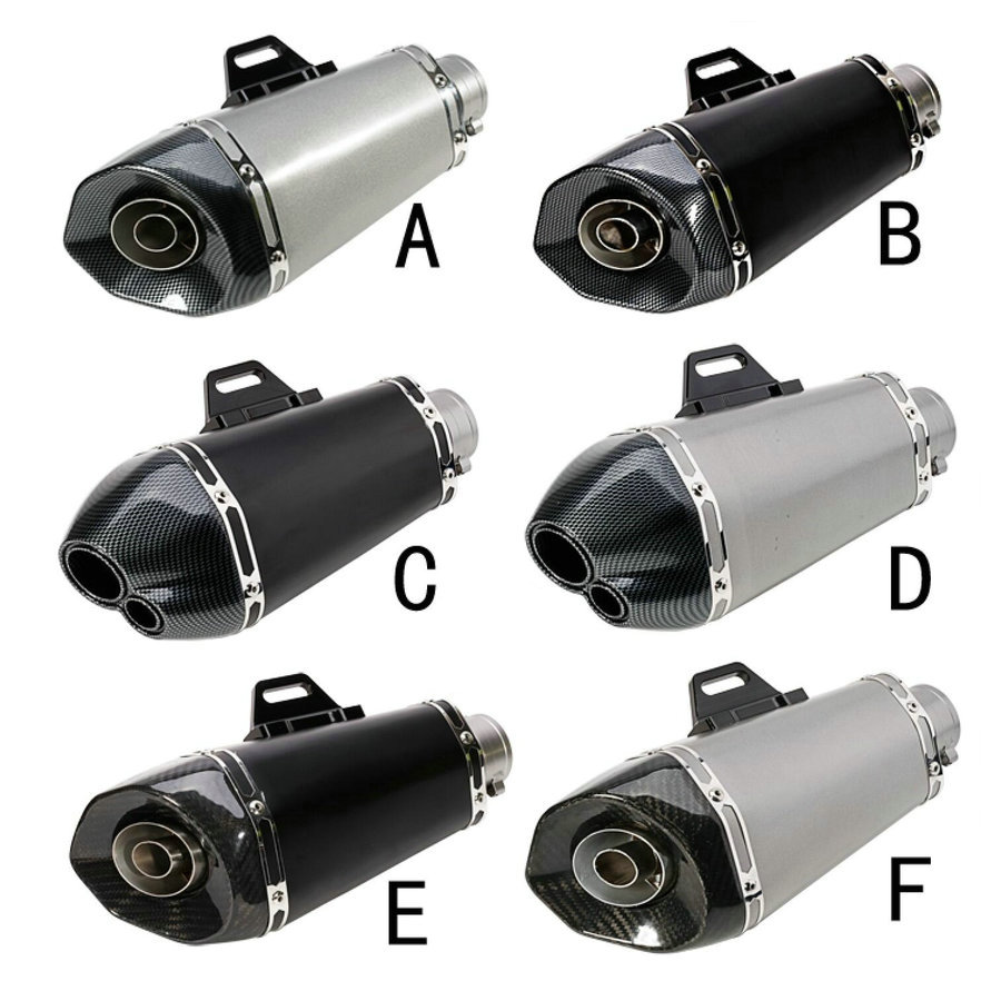 51mm Universal motorcycle exhaust pipe muffler Tmax FZ1 CBR300 ZX6R Z750 R15 R3 Z250 MT07 MT09 CBR1000 M4 exhaust pipe