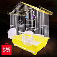 M & K ホーム鳥類の飼育用品装備立ち食品ウィンドウハンドルトレイ鳥ケージ鳥家形オウムケージ