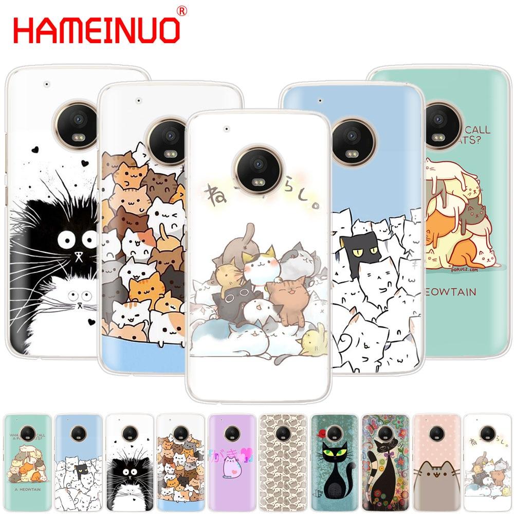 Cute Funny A Pile Of Cats Art Cat Case Phone Cover For Motorola Moto X4 E4 C G6 G5 G5S G4 Z2 Z3 PLAY PLUS