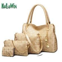 NLT señora mujeres de la moda top mango bolsa de estilo caliente venta de charol bolsa de mensajero bolsa de hombro sólido compuesto conjunto bolsos