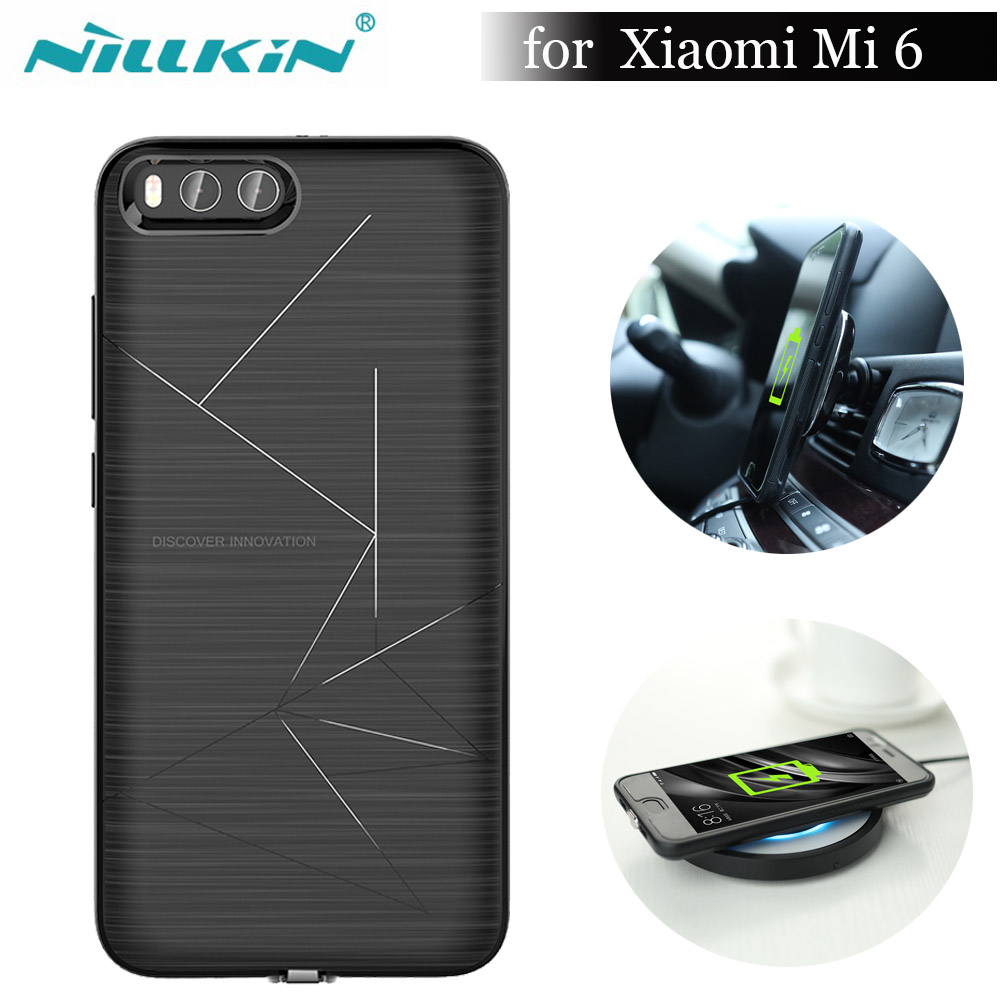 Nillkin Magic Case for Xiaomi Mi 6 Nilkin Qi Wireless Charger Receiver TPU Cover Power Charging Transmitter For Xiaomi Mi6 Mi 6