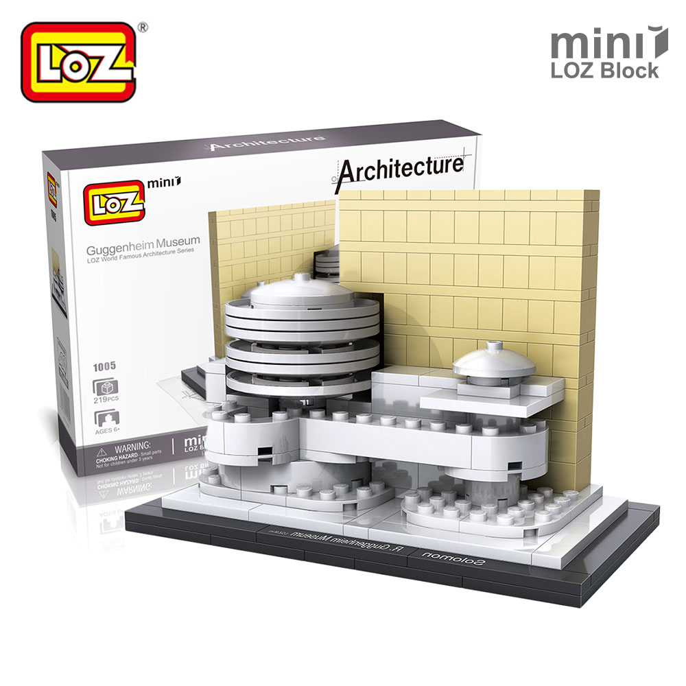 Mr.Froger LOZ Architecture Guggenheim Museum House DIY Model Kits Mini Block Forge World City Models Building Blocks Toy Bricks mr froger loz diamond block easter island world famous architecture diy plastic building bricks educational toys for children
