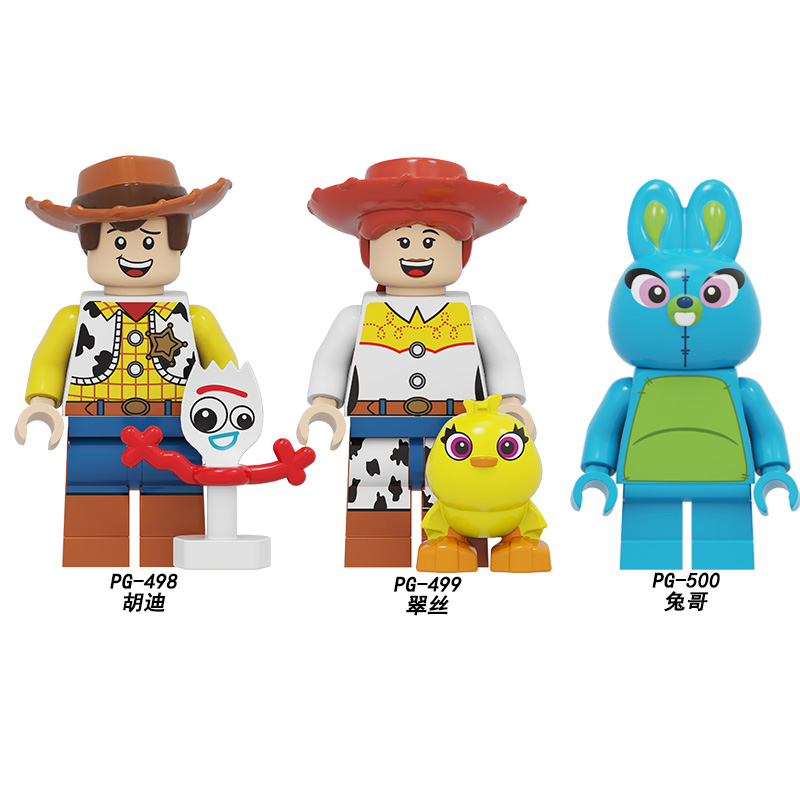 PG8270 Toy Story Cartoon Woody Jessie Buzz Lightyear Building Block Brick Roundup Action Figures Dolls